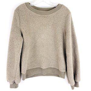 Abercrombie & Fitch Soft Sherpa Fleece Sweatshirt Sweater Crew Neck M